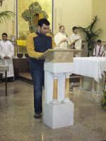 Giovedì Santo 2007. Un momento della Santa Messa nella quale viene rievocata l'ultima cena di Cristo.  - Alì terme (3624 clic)