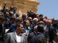 Inaugurazione Cattedrale di Noto. 18 giugno 2007. Romano Prodi alla fine della celebrazione.  - Noto (1872 clic)
