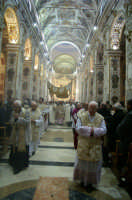 Giovedi Santo, un momento della Messa in Coena Domini in Cattedrale  - Caltanissetta (2250 clic)