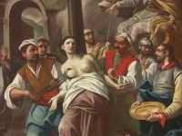 San Sebastiano - Romualdo Formosa - Part. Martirio di Sant'Agata (olio su tela sec. XVIII)  - Melilli (10887 clic)