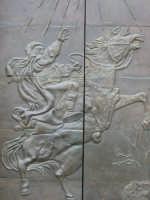 Solarino: Chiesa San Paolo - portone bronzeo particolare  - Solarino (3859 clic)
