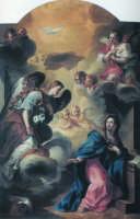 Chiesa Ss. Annunziata - Olio su tela dell'Annunciazione - attr. Vito D'Anna ISPICA SALVATORE BRANCAT