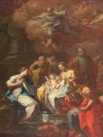 Chiesa S. Maria della Stella - Natività di Gesù - Olivio Sozzi (Olio su tela sec. XVIII)  - Militello in val di catania (14903 clic)
