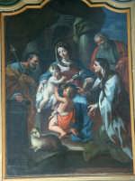 Basilica di S. Maria Maggiore, Sacra Famiglia e Santi, olio su tela, O. Sozzi. Mostra fotografica del Centenario dall'Erezione a Monumento Nazionale (1908-2008)  - Ispica (1094 clic)
