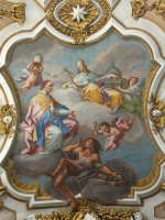 Basilica di S. Maria Maggiore, Trionfo della Chiesa, affresco, O. Sozzi. Mostra fotografica del Centenario dall'Erezione a Monumento Nazionale (1908-2008)  - Ispica (1063 clic)