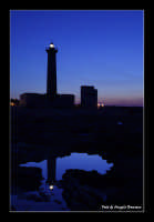 Faro di Augusta al tramonto  - Augusta (6080 clic)