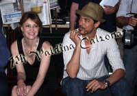 Margherita Buy e Alessandro Gassman in conferenza stampa all'hotel Timeo. Giugno 2008 Ph Valdina Calzona  - Taormina (1893 clic)