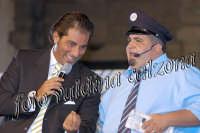 Ruggero Sardo con l'autista della trasmissione chissà se và a Viagrande- Agosto 2007  - Viagrande (2749 clic)