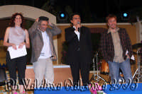 Il grande Litterio 'Enrico Guarneri'ospite alle ciminiere nella trasmissione 'Insieme' sul palco insieme ai colleghi attori, Giovanna Crisquolo e Salvo Volo. Giugno 2008 Ph Valdina Calzona  - Catania (1448 clic)