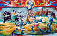Particolare di un carretto siciliano  - Acireale (4834 clic)