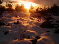 Tramonto sulla neve presso Monte Scavo  - Etna (12315 clic)