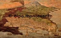 Dipinto raffigurante l'eruzione del 1669 conservato nella sagrestia del Duomo.  - Catania (2321 clic)