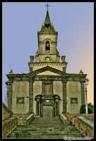 Fotoritocco della facciata della chiesa Madre.  - Trecastagni (7422 clic)