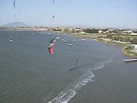 foto aerea di kiter allo stagnone  - Stagnone (2043 clic)