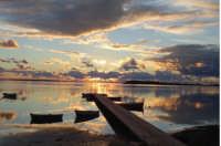 tramonto allo stagnone presso il kite center leviedelvento.it  - Marsala (11841 clic)