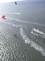 foto aeree di kiter allo stagnone  - Stagnone (4425 clic)