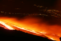 Colata lavica sul versante est   - Etna (3746 clic)