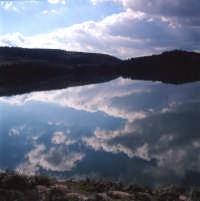 Lago S.Rosalia, una mattina, in inverno.  - Giarratana (3615 clic)