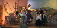 Compagnia Teatrale Stabile dei Nomadi LUIGI RUBINO & PLAYTIME. Liolà 2006. Scena durante una conzone in play-back (registrata in studio dalla ditta Animazione & Spettacoli PLAYTIME, dalle musiche di Paolo Castellana e Salvo Guliti)   - Leonforte (3154 clic)