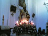 La vara con la statua del santo patrono, s.s. nicola di bari, nel giorno della sua festa del 6 dicem