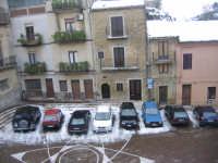 la Piazza San Luca e i tetti imbiancati  - Motta d'affermo (8656 clic)
