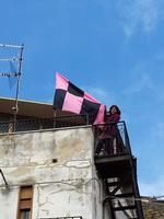 tifo rosanero dopo appena un anno di purgatorio il Palermo ritorna nella massima serie, nel posto ch