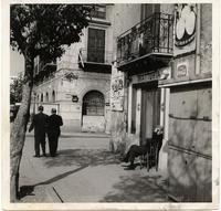Palermo uno scorcio di Piazza Giulio Cesare all'altezza della vecchia sede del Giornale di Sicilia.
