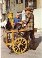 vecchi mestieri : l'arrotino con carretto siciliano PALERMO Rocco Lo Presti