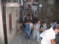 Festa S Rocco - Salita della scalinata di S. Carlo con la tradizionale catena umana  - Motta d'affermo (5818 clic)