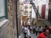 Festa di S Sebastiano - tradizionale salita della scalinata di via San Carlo e caratteristica  catena umana  - Motta d'affermo (5502 clic)