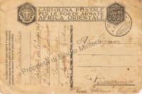 Una Cartolina spedita dall'Africa al periodo della guerra. Vieto comunque qualsiasi modo di uso.tranne per vederla. http://bisacquino.bplaced.net/ http://bminiera.bplaced.net/home.htm  - Bisacquino (3746 clic)