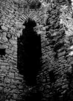 Castello Ventimiglia sul m. Bonifato (1967): il camino del mastio (la cosiddetta turri).  - Alcamo (3128 clic)