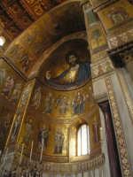 Vista interna dell'altare Maggiore del Duomo di Monreale  - Monreale (2584 clic)