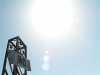 Il riflesso del sole sulla croce della Madrice a Caltabellotta  - Caltabellotta (2014 clic)