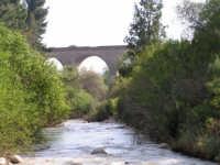 Fiume Sosio, sullo sfondo ex ponte ferroviario della vecchia linea Burgio - Palermo  - San carlo di chiusa sclafani (2835 clic)