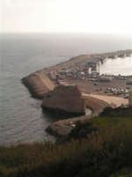 Il molo del porto di Sciacca al tramonto  - Sciacca (1937 clic)