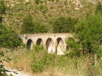 La Ex Linea Ferroviaria Burgio - San Carlo - Castelvetrano: Viadotto dell'ex sede ferroviaria nei pressi di San Carlo  - San carlo di chiusa sclafani (2012 clic)