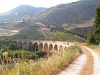 La Ex Linea Ferroviaria Burgio - San Carlo - Castelvetrano: Ex sede ferroviaria e viadotto sul fiume Sosio nei pressi di San Carlo  - San carlo di chiusa sclafani (2929 clic)