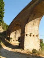 La Ex Linea Ferroviaria Burgio - San Carlo - Castelvetrano: Viadotto sul fiume Sosio nei pressi di San Carlo  - San carlo di chiusa sclafani (2010 clic)