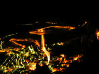 Paesaggio Notturno di Caltabellotta visto dal Monte Castello  - Caltabellotta (4465 clic)