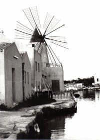 Salina Infersa - Mulino del Museo del Sale e canale navigabile.  - Marsala (3962 clic)