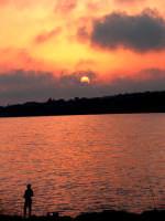 tramonto sulla spiaggetta  - Sampieri (1614 clic)