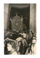 Processione Festa Ranni 1958 uscita Cereo del Pane  - Alì (3548 clic)
