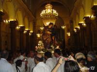 Festa della Vara 12 Agosto 2007 Processione dei simulacri dell'Arcangelo Gabriele e di Maria SS. Annunziata  - Fiumedinisi (2100 clic)