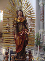 La statua di S. Agata  Patrona di Alì dopo il restauro sec. XVII  - Catania (3462 clic)