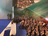 manifestazione di Forza Italia al palasport di Palermo sul palco SIlvio Berlusoni  CATANIA tiziano c
