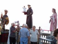 S.Antonio, S.Rocco, Santa Lucia alla guardiola durante la processione del 16 agosto 2007  - Piraino (4029 clic)