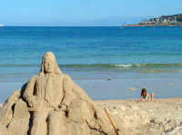 Arte in spiaggia, Mondello.  - Mondello (2488 clic)