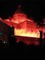La Cattedrale durante lo spettacolo del Fistino di Santa Rosalia. PALERMO AMBRA CURTO
