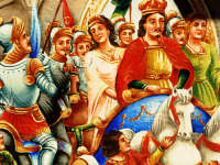Particolare di una pittura su un carretto siciliano  - Trecastagni (6013 clic)